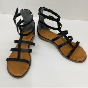 Seychelles Aim High Caged Sandal in Black Size 6.5